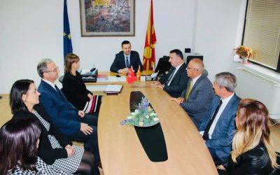 """Официјална посета на државниот секретар во МОН , Енвер Хусеин од страна на директорот на Средно угостителско туристичко училиште """"Шеид-Ерол Олчак"""" од Бурса"""